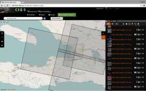Screen capture from the RO demo site. In this view, data over Haiti.
