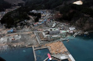 Damage from the Great East Japan Tsunami in Otsuchi, Iwate, Japan, 15 March 2011. Source: wikimedia commons.