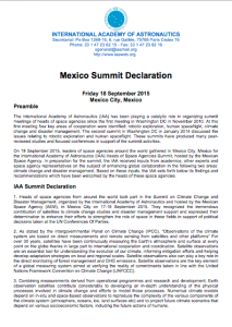 IAA Mexico Summit Declaration