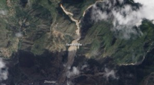 Figure 1: Landslide Zhouqu County of China's Gansu Province in 2010, Credit: NASA