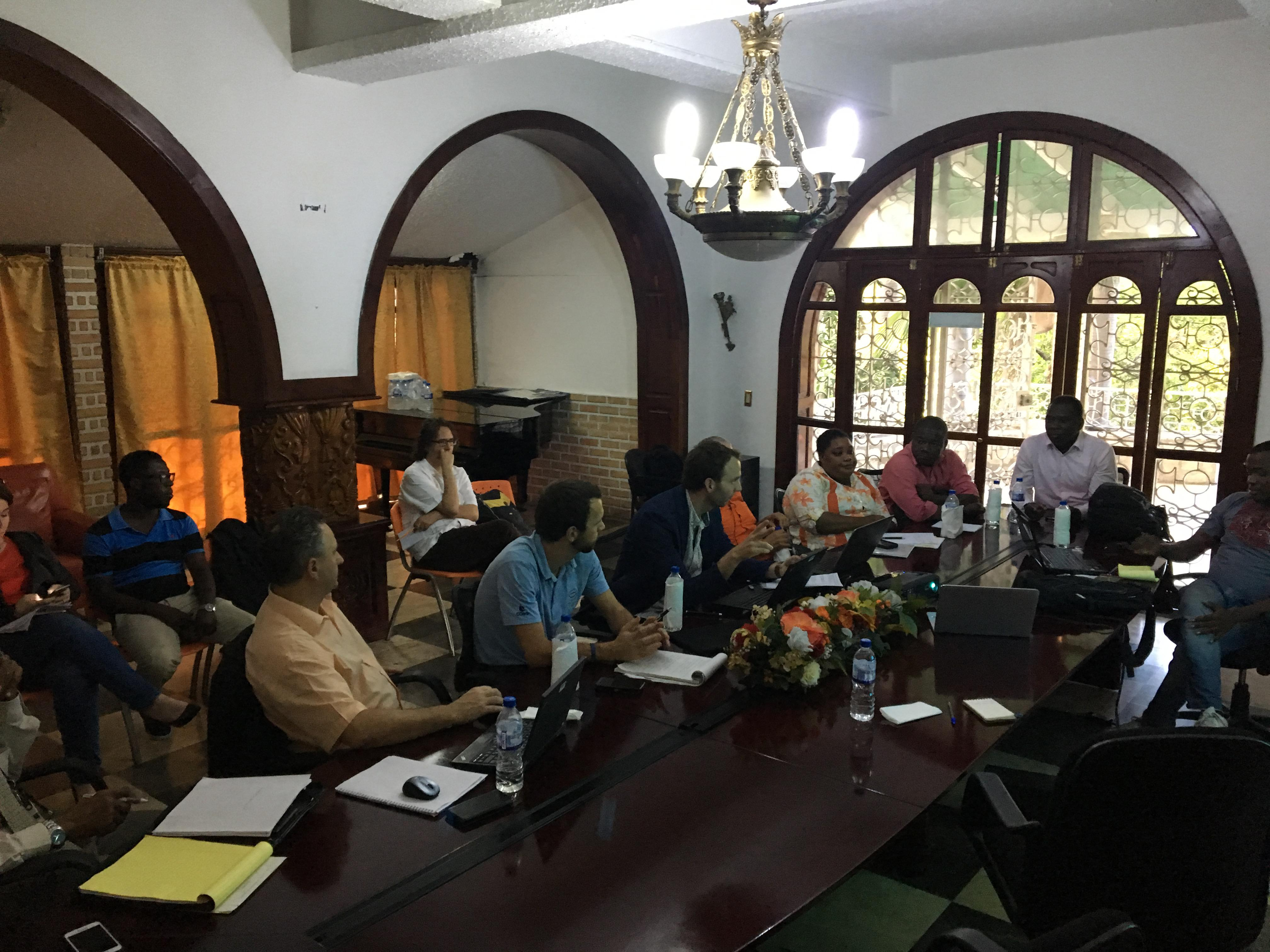 Figure 6: December 2017, Technical Mission - Working session at the Ministry of the Environment